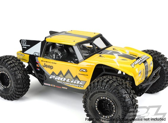 Shell Body Pro-Line Jeep Wrangler Rubicon Clear pour Axial Yeti