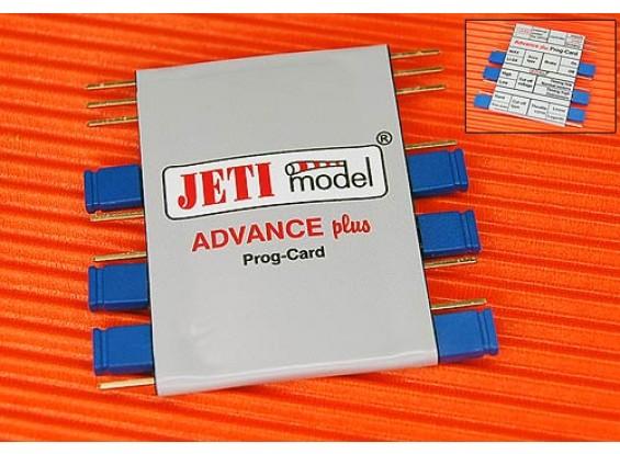 Jeti Advance Card Plus de programmation