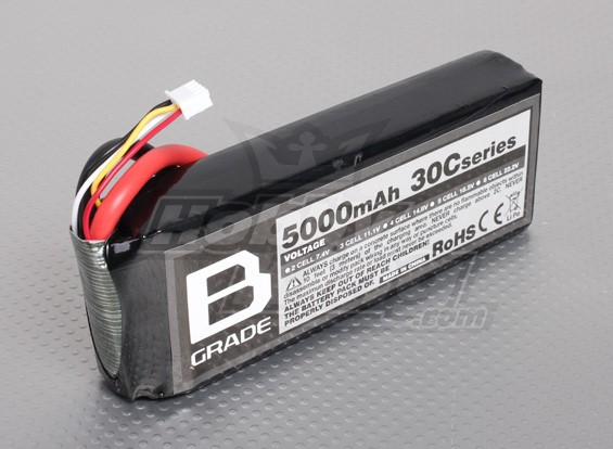 Batterie B-Grade 5000mAh 3S 30C Lipoly
