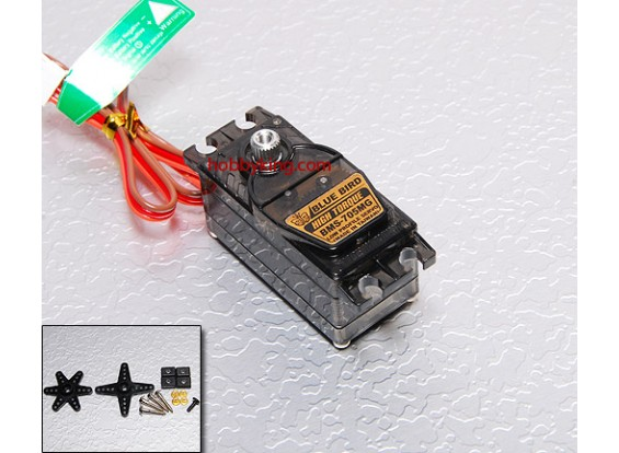 BMS-705MG Low Profile High Torque Servo (Metal Gear) 6,0 kg / .18sec / 34g