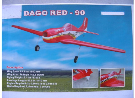 LIQUIDATION - HobbyKing Dago Red 90 ARF (AUS Entrepôt)