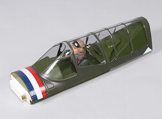 P-40N (Vert) 1700mm - Remplacement Canopy