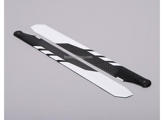 325mm en fibre de carbone principal Lame White (1pair)