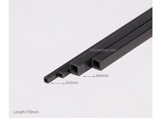 Carbon Fiber Place Tube 750x3mm