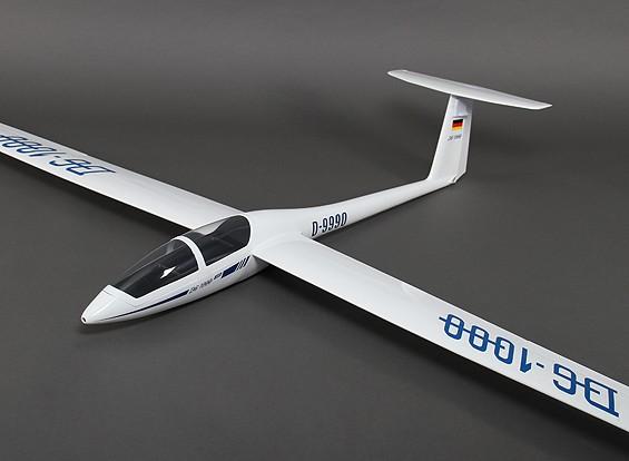 DG-1000 Composite Sailplane 2650mm w / Freins pneumatiques / Dégagement principal Roue / Geardoors (ARF)