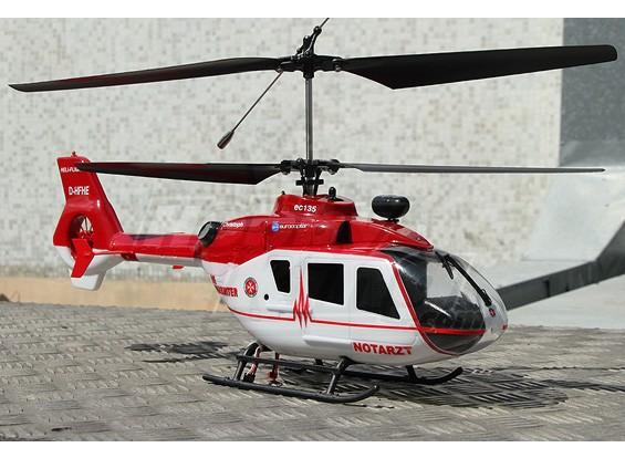 EC-135 Coax Eurocopter w / 2.4Ghz Tx & LiPo (grande taille 450)