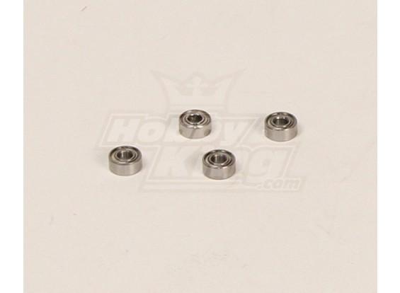 HK600GT roulements à billes Pack (3x7x3mm) 4pcs / bag