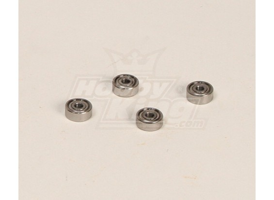 HK600GT roulements à billes Pack (3x10x4mm) 4pcs / bag