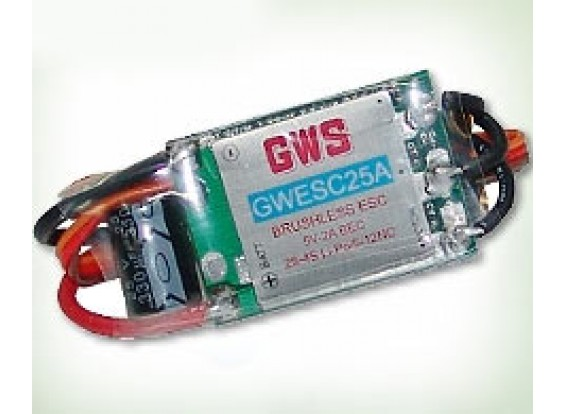 GWS Brushless 25A 2-4S 2A BEC