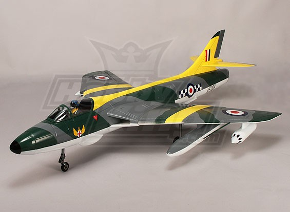Hawker Hunter 70mm EDF Jet, 6s, w / Retracts & Flaps, RAFY (PNF)