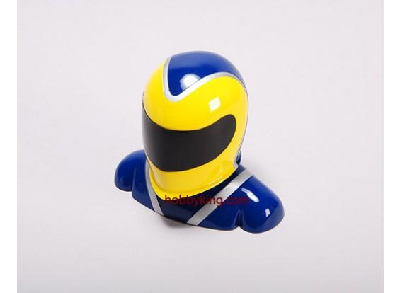 Fibreglass Pilot Model Yellow & Blue (Medium)