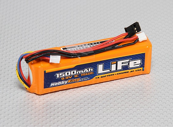 HobbyKing 1500mAh LiFe 3S Pack 9,9V émetteur.
