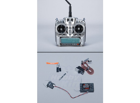 JR DSX9 MK2 2.4G DSM2 émetteur w / RD921 Receiver (Mode 1)