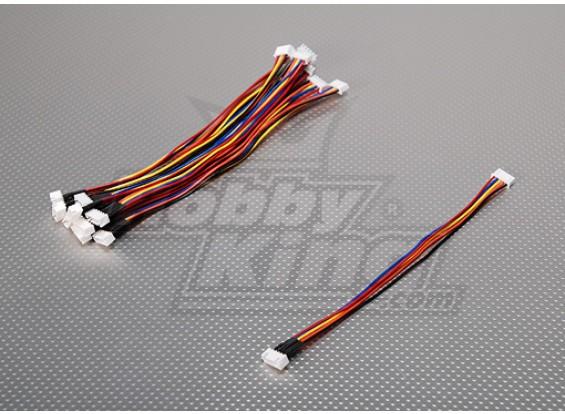 20cm JST-XH 4S Extension métallique (10pcs / bag)