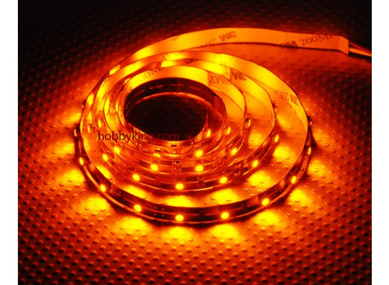 Haute Densité R / C LED Flexible Strip-jaune (1mtr)