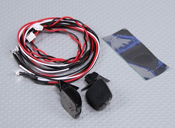 Rétroviseur intérieur avec LED (2pc)