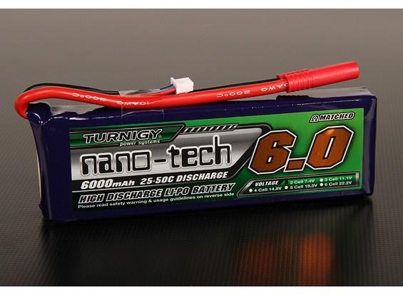 Turnigy nano-tech 6000mAh 2S 25 ~ 50C Lipo Paquet