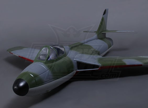 Hawker Hunter 90mm EDF Swiss Air Force 1112mm w / ventilateur, le moteur et les jambes Oleo (ARF)