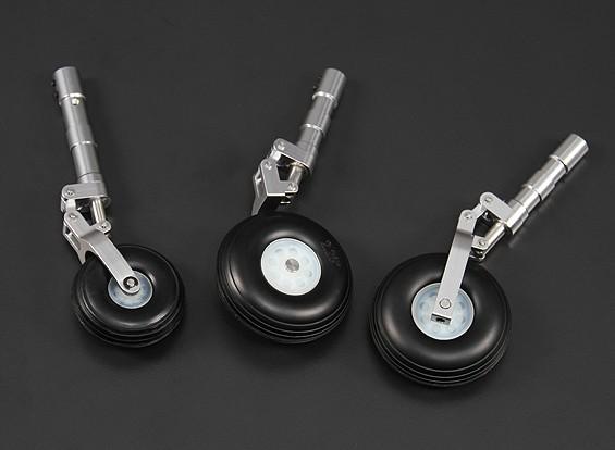 Alloy Oleo Strut Set w / roues pour 90mm / 1.20 Classe Jet
