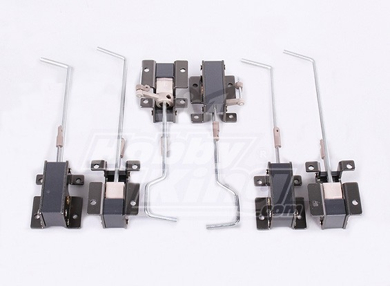 Plastique et métal Retracts 2 jeux (6PC)