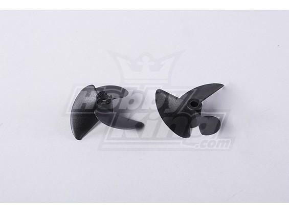 3-Blade Bateau Hélices 40x47mm (2pcs / sac)