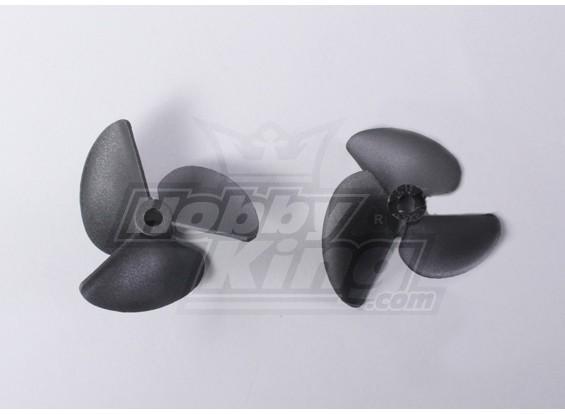 3-Blade Bateau Hélices 40x52mm (2pcs / sac)