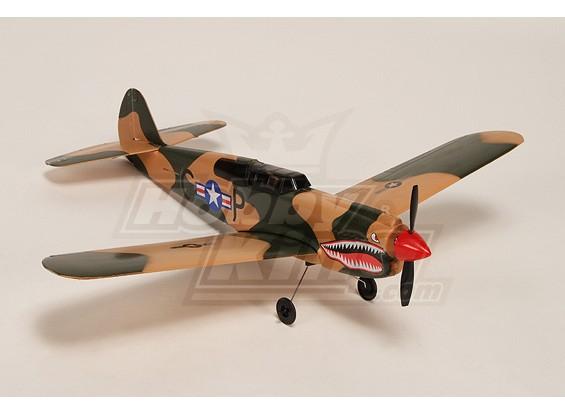 Micro P-40 w / 5A ESC, BL-moteur, 2.5g Servo & LiPo