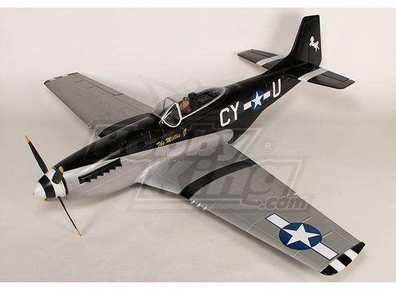 P-51D Mustang monstre 1.55m 6Ch XL-EPO - 61inch PNF (Noir)