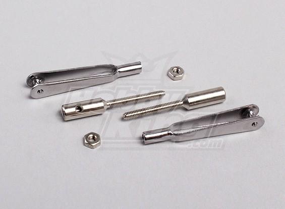 Lien rapide Acier Chape w / 2mm filetées coupleurs (1pair)
