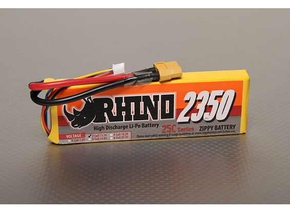 Rhino 2350mAh 3S1P 25C Lipoly Paquet