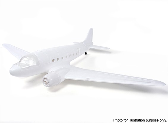 SCRATCH / DENT - HobbyKing ™ C-47 / DC-3 EPO Blanc 1600mm (Kit)