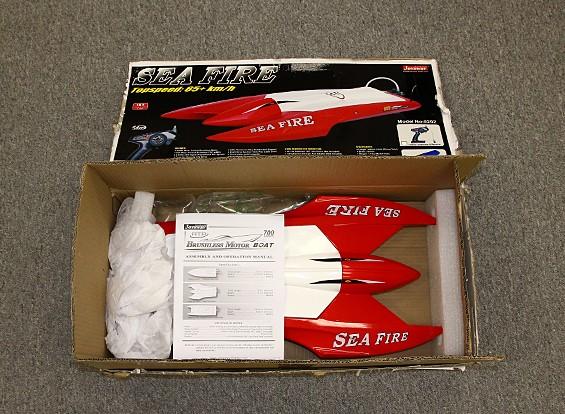 SCRATCH / DENT - Sea feu Brushless Twin-Hull R / C Bateau (662mm) (P & P)