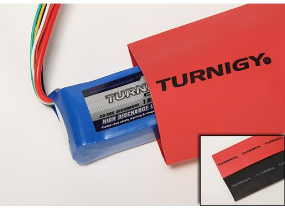 Turnigy thermorétractable Tube 50mm BLACK (1mtr)