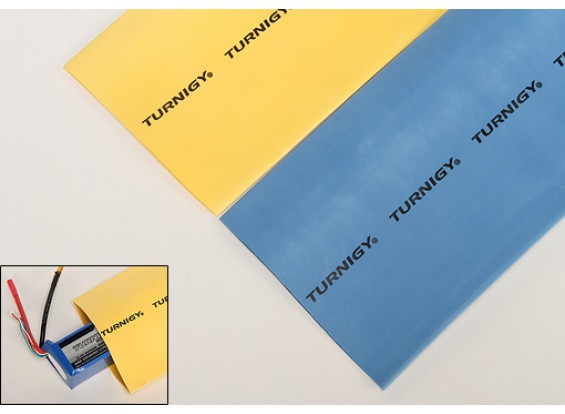 Turnigy thermorétractable Tube 100mm Jaune (1mtr)