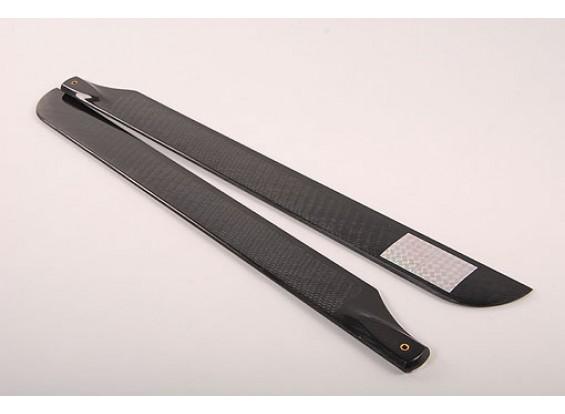 550mm TIG en fibre de carbone Z-Weave principal Lames