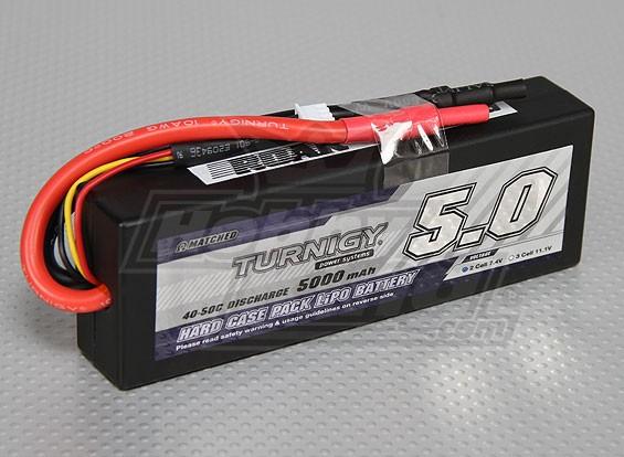 pack hardcase Turnigy 5000mAh 2S2P 40C (RAAR approuvé)