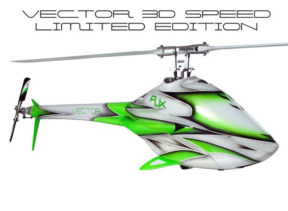RJX Vector 700 EP 3D Speed Limited Edition Flybarless Kit d'hélicoptères