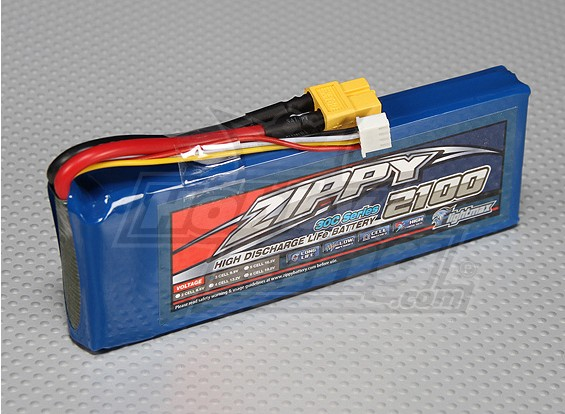 ZIPPY FlightMax 2100mAh 3S1P 30C LiFePo4 Paquet