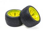 BSR Berserker 1/8 Electric Truggy - Wheel Set (Yellow) (Super Soft) (1 pair) 817353-Y