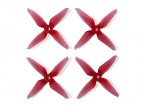Team RaceKraft 3041 Q4CS 4 Blade Props - Clear Red