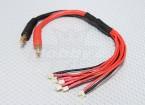 Micro JST cordon de charge parallèle (6 prises)