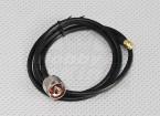 câble de raccordement RG58 SMA mâle à mâle N (1 mètre)