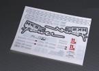 Auto-adhésif Decal Sheet - HKS 1/10 Échelle