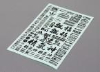 Auto-adhésif Decal Sheet - Caractère 1/10 Scale (Noir)