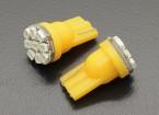 LED Corn Lumière 12V 1.35W (9 LED) - Jaune (2pc)