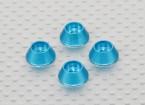 Alloy Cone Rondelle (Bleu) (4pcs)
