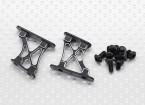 1/10 aluminium CNC Tail / Support Wing Frame-Small (Noir)