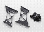 1/10 aluminium CNC Tail / Support Wing Frame-Medium (Noir)