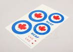 Échelle nationale Air Force Insignia Decal Sheet - Canada (grande)