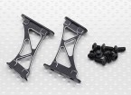 1/10 aluminium CNC Tail / Wing support Frame-Large (Noir)